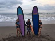 After surf picture with a couple of our students.